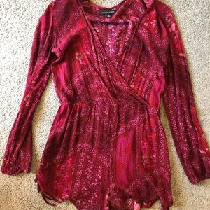 Red/ pink Kendall & Kylie long sleeve romper